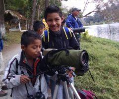 Guatemalan Kids Birding - Bob Keener